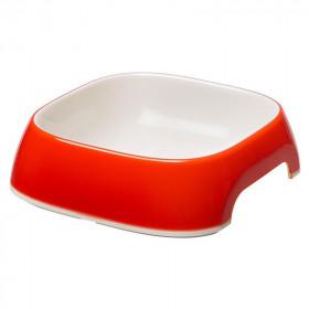 Миска FERPLAST GLAM SMALL пластиковая, красная, 400 мл