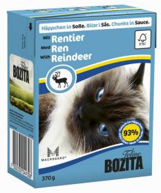 BOZITA Feline Reindeer Tetra Pak кус. в соусе с мясом оленя д/кошек (370г)