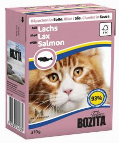 BOZITA Feline Salmon Tetra Pak кус. в соусе с лососем д/кошек (370г)