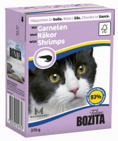 BOZITA Feline Shrimps Tetra Pak кус. в соусе с креветками д/кошек (370г)