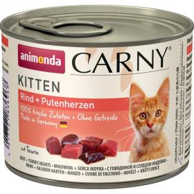 ANIMONDA CARNY KITTEN консервы для котят с говядиной и сердцем индейки