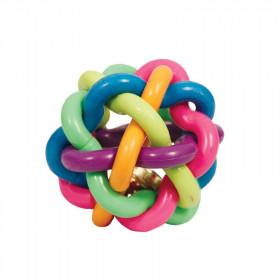 """TRIOL (ТРИОЛ) BW241 Игрушка для собак из ц/литой резины """"Мяч-лабиринт с колокольчиком"""", d85мм"""