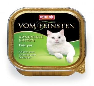ANIMONDA VOM FEINSTEN консервы для кастрированных кошек с отборной индейкой 100 гр.