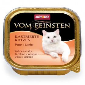 ANIMONDA VOM FEINSTEN консервы для кастрированных кошек с индейкой и лосось 100 гр.