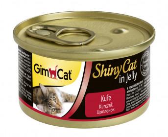 GimCat, ShinyCat консервы для кошек из цыпленка