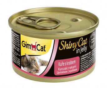 GimCat, ShinyCat Filet консервы для кошек из курицы с крабом