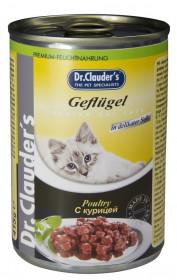 Dr.Clauder's консервированный корм для кошек с курицей кусочки в соусе 415 г