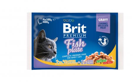 Brit Premium Паучи для кошек Рыбная тарелка Набор