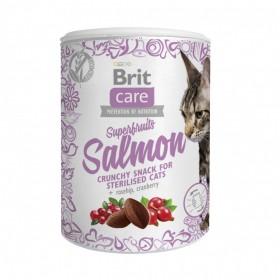 Brit Care лакомство для стерилизованных кошек Superfruits Salmon steril. Суперфрутс с лососем