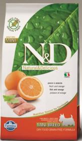 Сухой корм для собак Farmina N&D, сельдь c апельсином для мелких пород