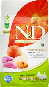 Сухой корм для собак Farmina N&D, беззерновой, дикий кабан с тыквой, с яблоком для мелких пород