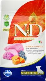 Сухой корм для щенков Farmina N&D, для беременных/кормящих, беззерновой, ягненок с тыквой и черникой для мелких пород