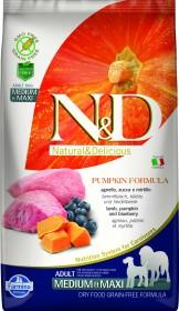 Сухой корм для собак Farmina N&D, беззерновой, ягненок, с тыквой, с черникой для средних и крупных пород