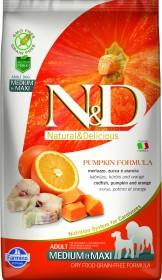 Сухой корм для собак Farmina N&D Ocean, треска, с тыквой, c апельсином
