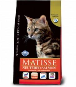 Farmina Matisse Neutered сухой корм для взрослых стерилизованных кошек и кастрированных котов с лососем
