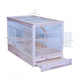 ДАРЭЛЛ Клетка для птиц Ретро - кантри большая, деревянная, цвет белый, 71х33,5х51 8762
