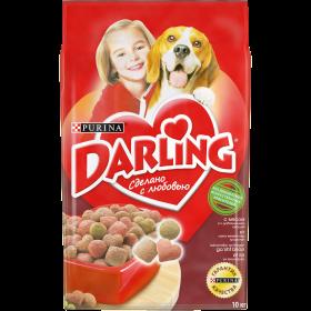 Darling (Дарлинг). Корм сухой полнорационный для взрослых собак, с мясом и овощами