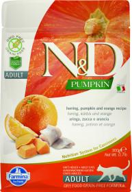 Сухой корм для кошек Farmina N&D Ocean, беззерновой, с сельдью, тыквой и апельсином