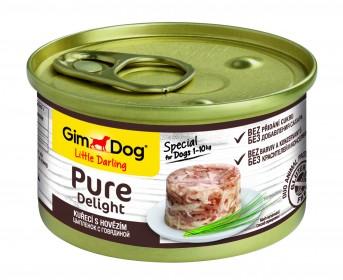GimDog, Pure Delight консервы для собак из цыпленка с говядиной