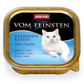 ANIMONDA VOM FEINSTEN консервы для кастрированных кошек с индейкой и форель 100 гр.