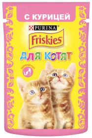 Purina Friskies, Влажный корм Friskies для котят, с курицей в подливе, Пауч