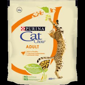 Purina Cat Chow, сухой корм для взрослых кошек с высоким содержанием домашней птицы