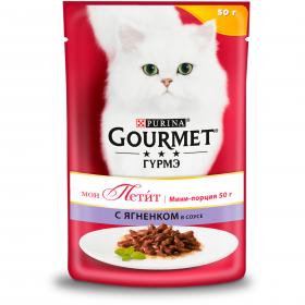 Gourmet (Гурмэ) Мон Петит. Корм консервированный полнорационный для взрослых кошек, с ягненком в соусе