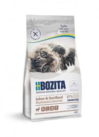 Bozita Indoor & Sterilized GF Reindeer,  беззерновое сух. пит. д/стерилиз. растущих, взросл. и малоподвижн. кошек  с оленем