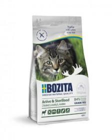 Bozita Active & Sterilized GF Lamb, беззерновое сух. пит. д/стерилиз. растущих, взросл. и активных кошек с ягненком
