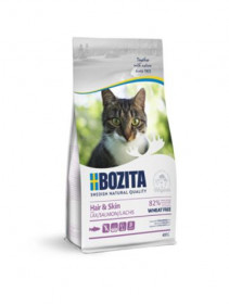 Bozita Hair & Skin WF Salmon, сух.пит. д/взросл. и растущих кошек д/здор. кожи и шерсти с лососем, без пшеницы