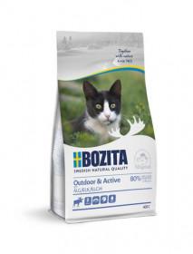 Bozita Outdoor & Active, сух. пит. д/растущих и взросл. активных кошек  с лосем