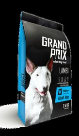 Сухой корм для взрослых собак средних пород GRAND PRIX Medium Adult  ягненок