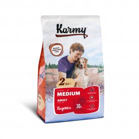 Karmy  Medium Adult сухой корм для взрослых собак средних пород  с индейкой