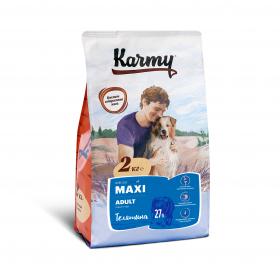 Karmy  Maxi Adult сухой корм для взрослых собак крупных пород с телятиной