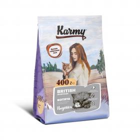 Karmy British Shorthair сухой корм для взрослых кошек Британской породы старше 1 года  с индейкой