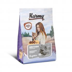 Karmy  British Shorthair Kitten сухой корм для беременных и кормящих кошек и котят Британской породы в возрасте до 1 года с индейкой