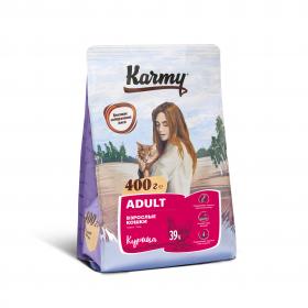 Karmy Adult сухой корм для взрослых кошек старше 1 года с курицей