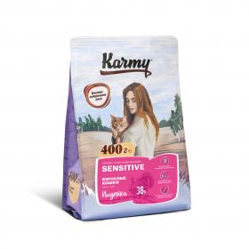 Karmy Sensitive сухой корм для кошек с чувствительным пищеварением с индейкой