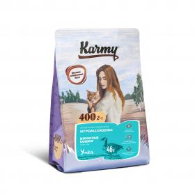 Karmy Hypoallergenic сухой корм для кошек, склонных к пищевой аллергии с уткой