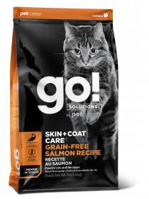 GO! SKIN + COAT Grain Free Recipe CF 30/14 сухой беззерновой корм д/котят и кошек, Лосось