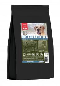 BLITZ ADULT FRESH TROUT низкозерновой корм для взрослых собак Свежая Форель