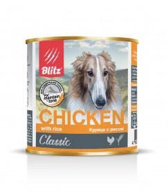"""BLITZ """"Курица с рисом"""", консервы для собак всех пород и возрастов 750 гр."""