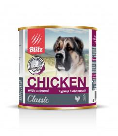 """BLITZ""""Курица с овсянкой"""", консервы для собак всех пород и возрастов 750 гр."""