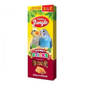 J203 HAPPY JUNGLE Палочки для птиц мед+орехи 3 шт
