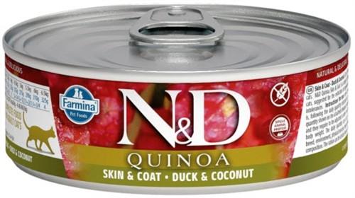 Влажный корм для кошек Farmina N&D, для здоровья кожи и блеска шерсти, беззерновой, с уткой, кокосом и киноа