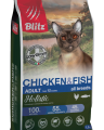 BLITZ ADULT CAT CHICKEN & FISH низкозерновой корм для взрослых кошек Курица и Рыба 5 кг