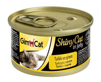 GimCat, ShinyCat консервы для кошек из тунца с сыром