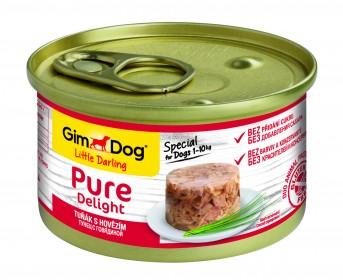 GimDog, Pure Delight консервы для собак из тунца с говядиной
