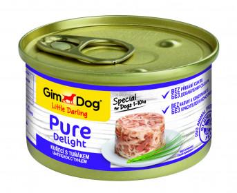 GimDog, Pure Delight консервы для собак из цыпленка с тунцом