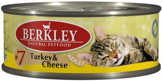 Berkley консервы для кошек индейка с сыром №7 100 г.